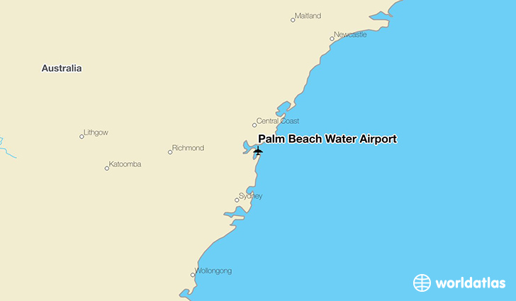 Palm Beach Water Airport location on a map