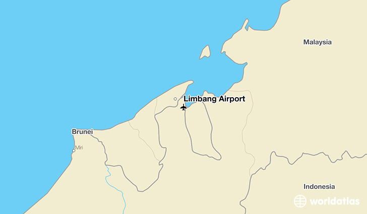 Limbang Airport location on a map