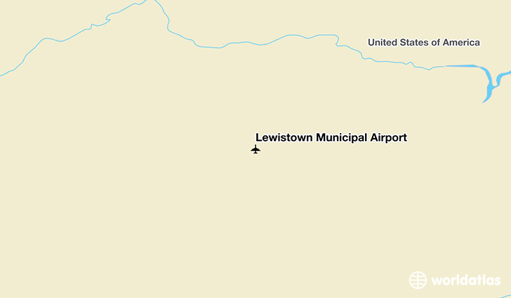 Lewistown Municipal Airport location on a map