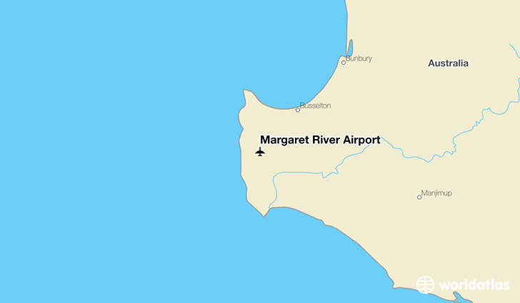 Margaret River Airport location on a map