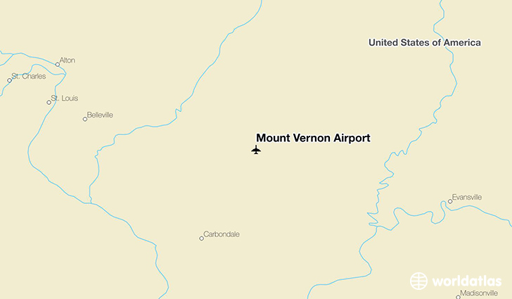 Mount Vernon Airport location on a map