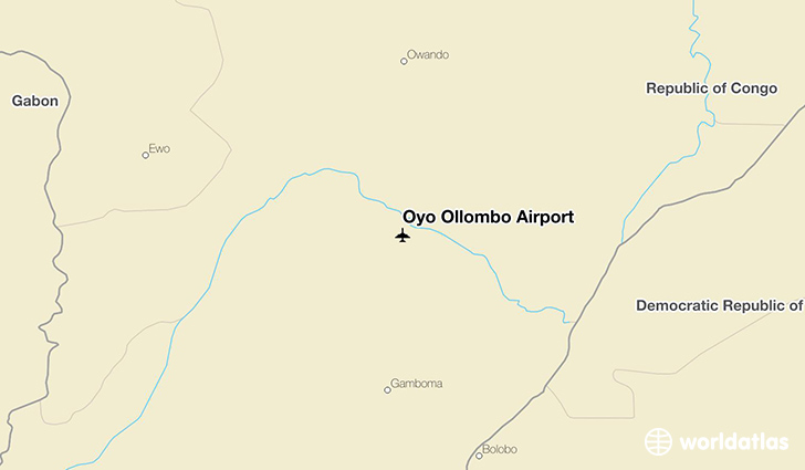 Oyo Ollombo Airport location on a map