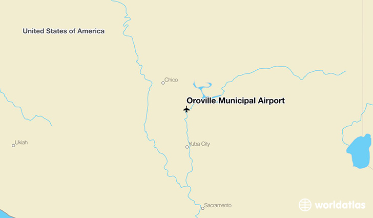 Oroville Municipal Airport location on a map