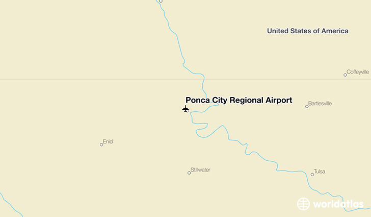 Ponca City Regional Airport location on a map