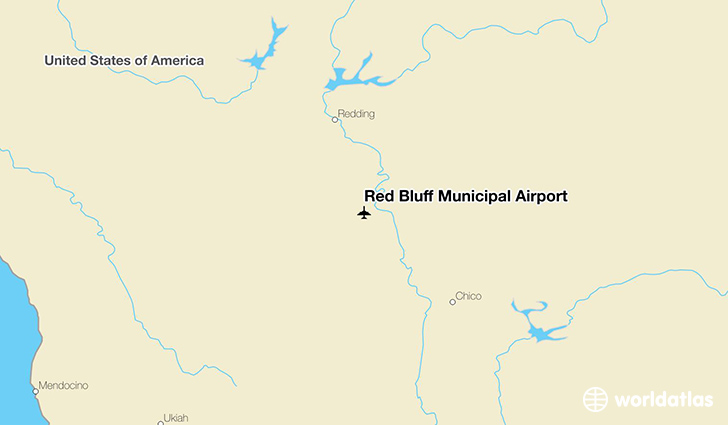 Red Bluff Municipal Airport location on a map