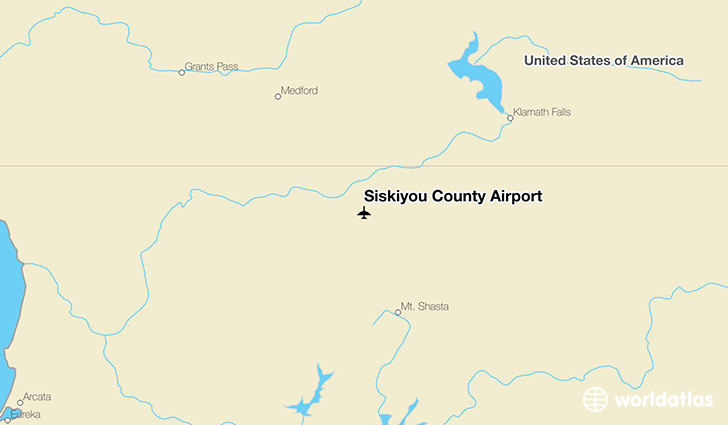 Siskiyou County Airport location on a map