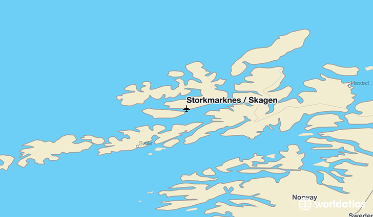 Storkmarknes / Skagen location on a map