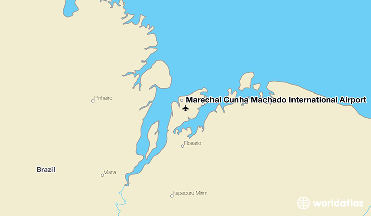 Marechal Cunha Machado International Airport location on a map