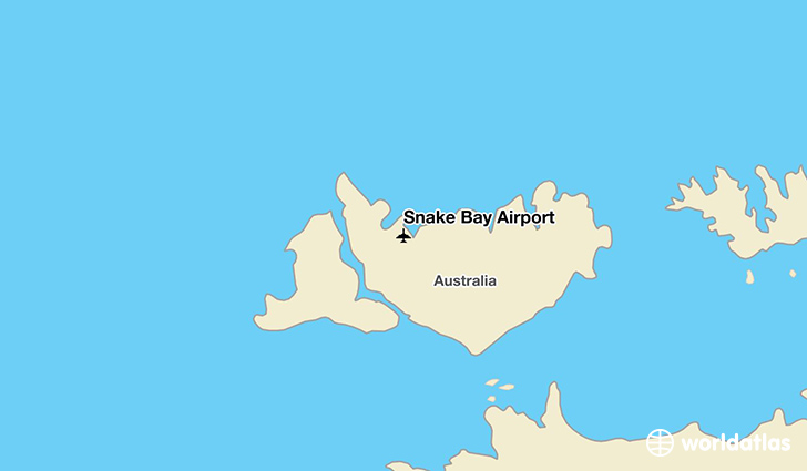 Snake Bay Airport location on a map