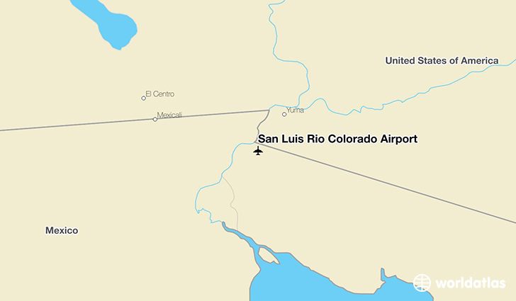 San Luis Río Colorado Airport location on a map