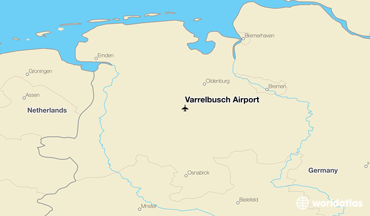Varrelbusch Airport location on a map