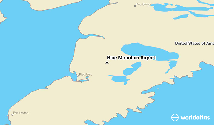 Blue Mountain Airport location on a map