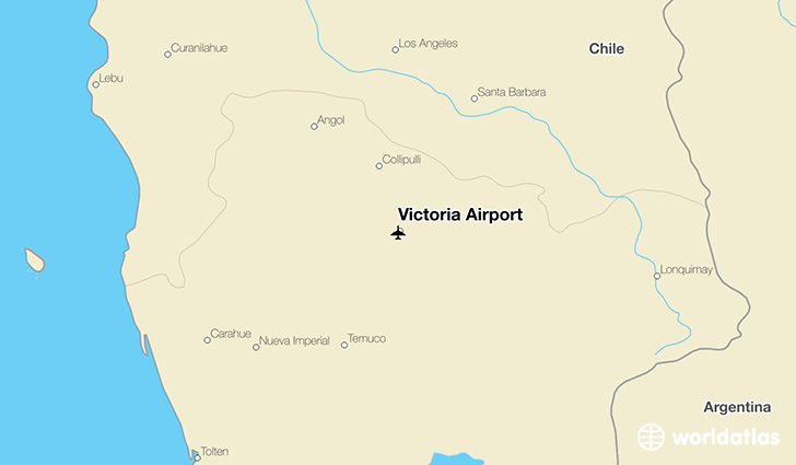 Victoria Airport location on a map