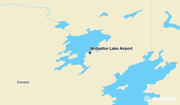 Wollaston Lake Airport location on a map