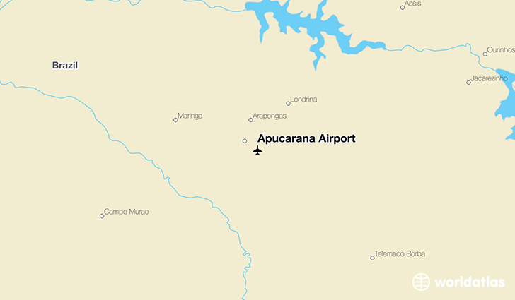 Apucarana Airport location on a map