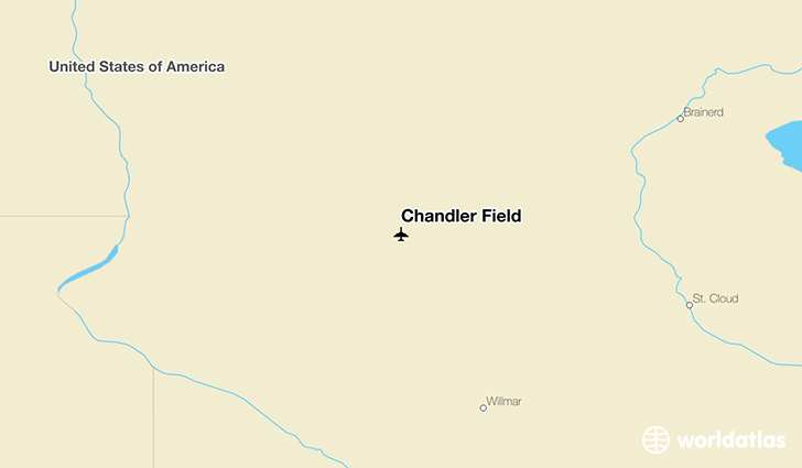Chandler Field location on a map