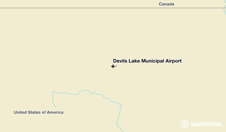 Devils Lake Municipal Airport location on a map