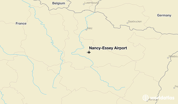 Nancy-Essey Airport location on a map