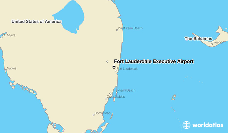 Fort Lauderdale Executive Airport location on a map