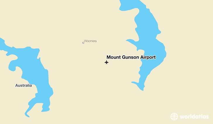 Mount Gunson Airport location on a map