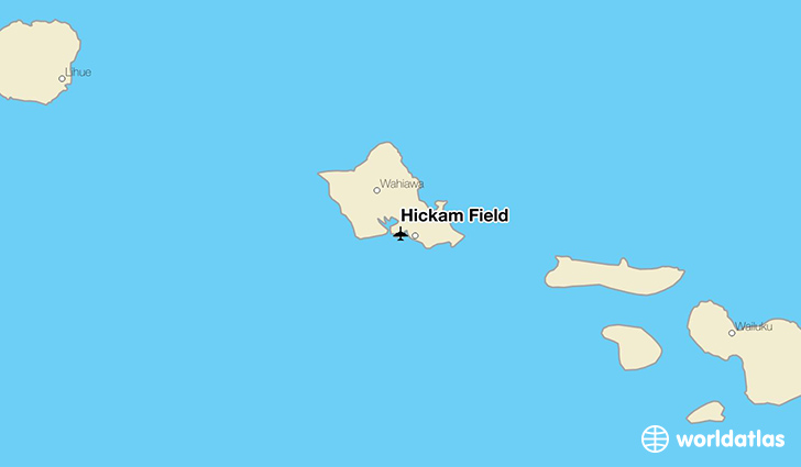 Hickam Field location on a map