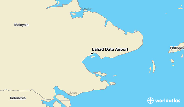 Lahad Datu Airport location on a map