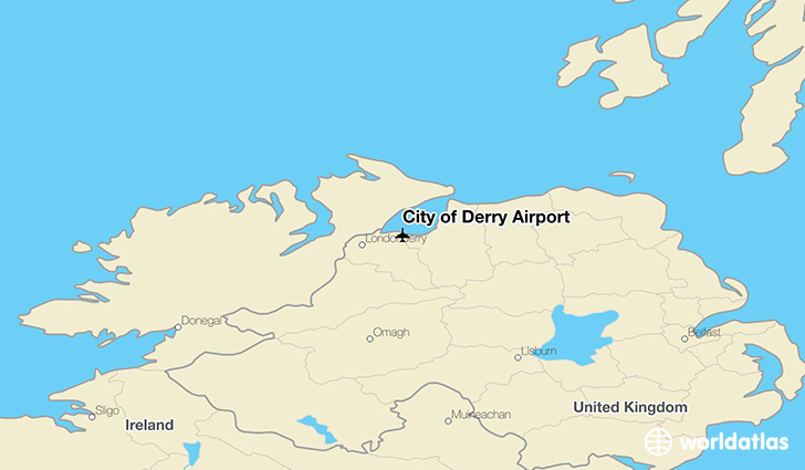 City of Derry Airport location on a map