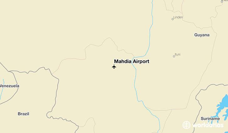 Mahdia Airport location on a map