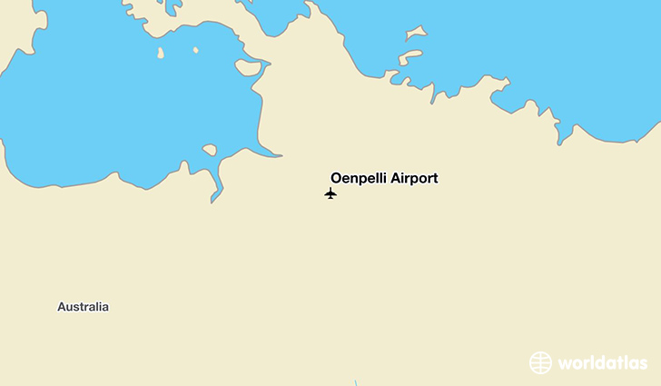 Oenpelli Airport location on a map