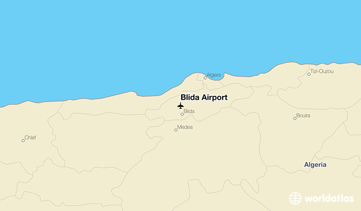 Blida Airport location on a map