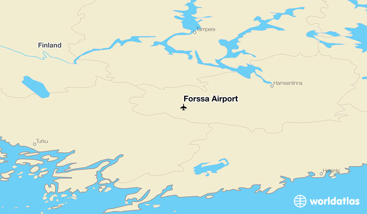 Forssa Airport location on a map