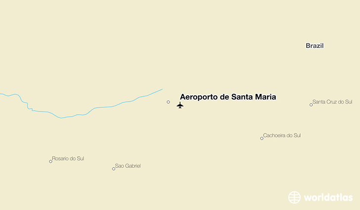 Aeroporto de Santa Maria location on a map