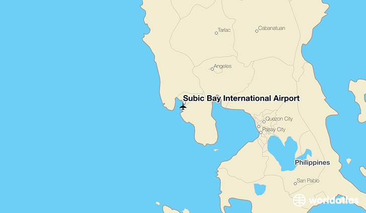 Subic Bay International Airport location on a map
