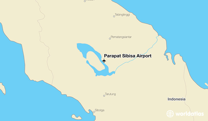 Parapat Sibisa Airport location on a map