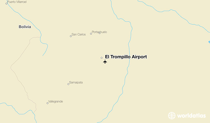 El Trompillo Airport location on a map