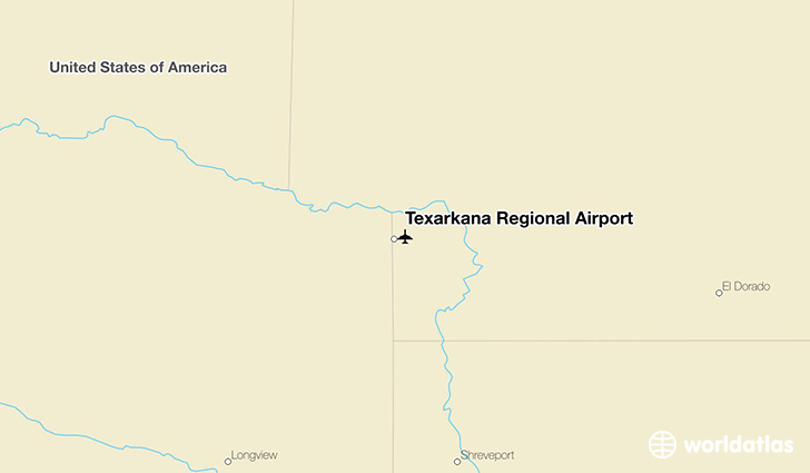 Texarkana Regional Airport location on a map