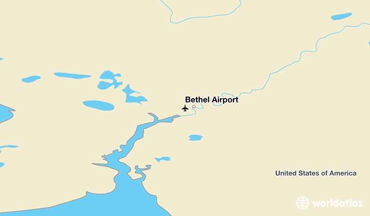 Bethel Airport location on a map