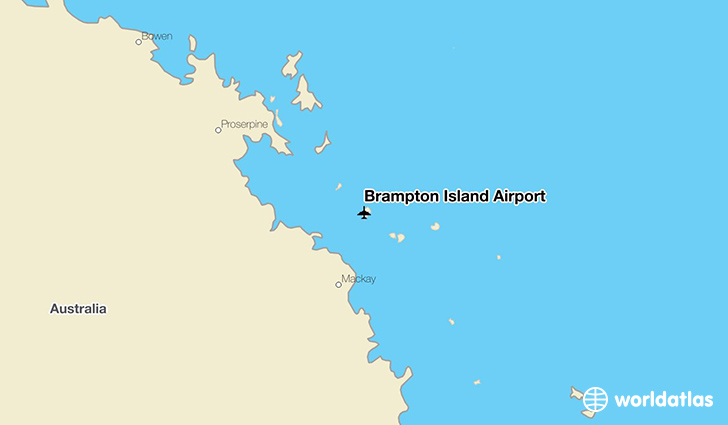 Brampton Island Airport location on a map