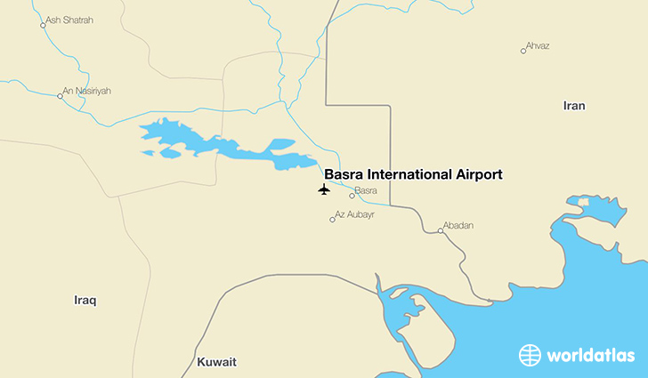 Basra International Airport location on a map