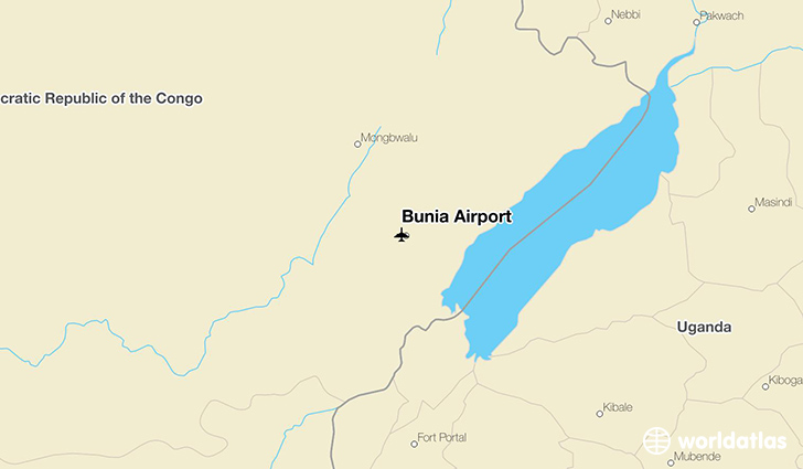 Bunia Airport location on a map