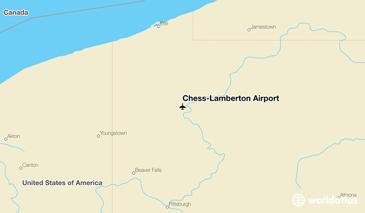 Chess-Lamberton Airport location on a map