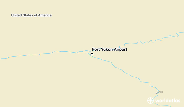 Fort Yukon Airport location on a map
