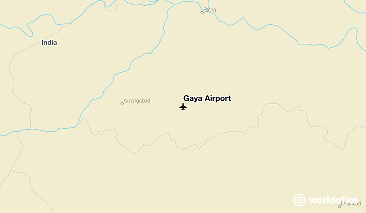 Gaya Airport location on a map