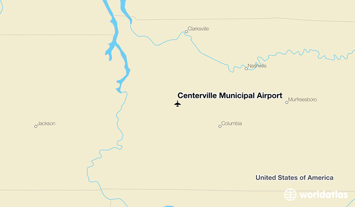 Centerville Municipal Airport location on a map