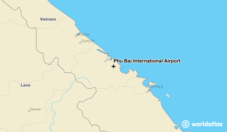 Phu Bai International Airport location on a map