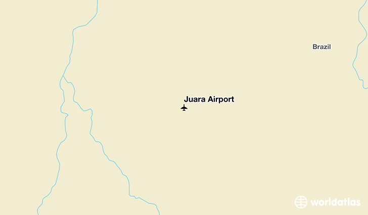 Juara Airport location on a map