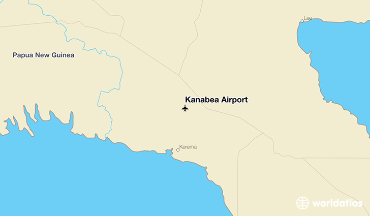 Kanabea Airport location on a map