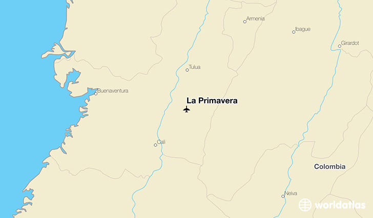 La Primavera location on a map