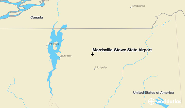 Morrisville-Stowe State Airport location on a map