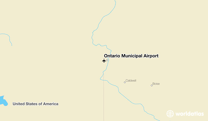 Ontario Municipal Airport location on a map